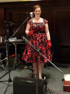 Laura Stimpson singing at the Marriot Hotel, Leeds